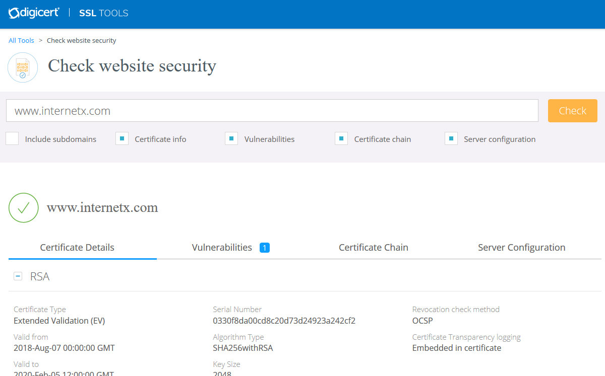 Certificate Management Tools - SSL & S/MIME - InterNetX Help