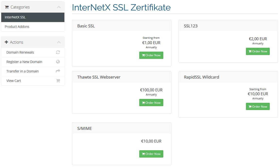 SetupGuide WHMCS SSL Plugin - External Modules - InterNetX