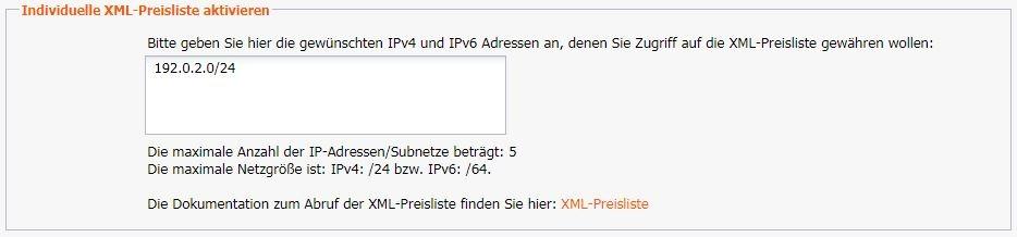 XML-Preisliste - Weitere API-Funktionen - InterNetX Help Center
